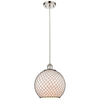 Innovations Lighting 516-1P-PN-G121-10CBK Large Farmhouse Chicken Wire 1 Light 10 inch Polished Nickel Mini Pendant Ceiling Light Ballston