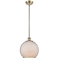 Innovations Lighting 516-1S-AB-G121-10CBK Large Farmhouse Chicken Wire 1 Light 10 inch Antique Brass Pendant Ceiling Light Ballston