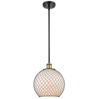 Innovations Lighting 516-1S-BAB-G121-10CBK-LED Large Farmhouse Chicken Wire LED 10 inch Black Antique Brass Pendant Ceiling Light Ballston
