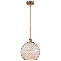 Innovations Lighting 516-1S-BB-G121-10CBK Large Farmhouse Chicken Wire 1 Light 10 inch Brushed Brass Pendant Ceiling Light Ballston