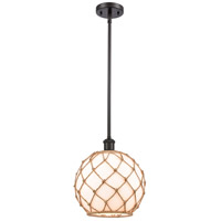 Innovations Lighting 516-1S-OB-G121-10RB Large Farmhouse Rope 1 Light 10 inch Oil Rubbed Bronze Pendant Ceiling Light Ballston