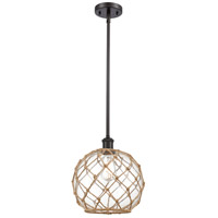 Innovations Lighting 516-1S-OB-G122-10RB Large Farmhouse Rope 1 Light 10 inch Oil Rubbed Bronze Pendant Ceiling Light Ballston