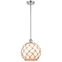 Innovations Lighting 516-1S-PC-G121-10RB-LED Large Farmhouse Rope LED 10 inch Polished Chrome Pendant Ceiling Light, Ballston photo thumbnail