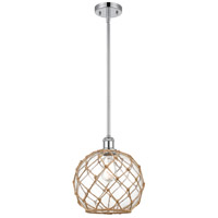 Innovations Lighting 516-1S-PC-G122-10RB-LED Large Farmhouse Rope LED 10 inch Polished Chrome Pendant Ceiling Light Ballston