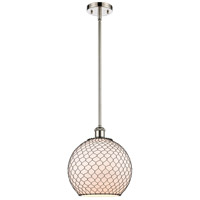 Innovations Lighting 516-1S-PN-G121-10CBK Large Farmhouse Chicken Wire 1 Light 10 inch Polished Nickel Pendant Ceiling Light Ballston