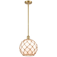 Innovations Lighting 516-1S-SG-G121-10RB Large Farmhouse Rope 1 Light 10 inch Satin Gold Pendant Ceiling Light Ballston