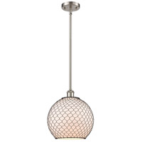 Innovations Lighting 516-1S-SN-G121-10CBK-LED Large Farmhouse Chicken Wire LED 10 inch Satin Nickel Pendant Ceiling Light Ballston