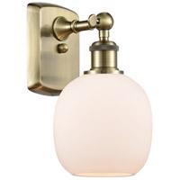 Innovations Lighting 516-1W-AB-G101-LED Belfast LED 6 inch Antique Brass Sconce Wall Light, Ballston