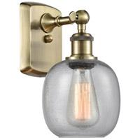 Innovations Lighting 516-1W-AB-G104 Belfast 1 Light 6 inch Antique Brass Sconce Wall Light, Ballston