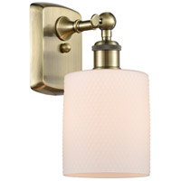 Innovations Lighting 516-1W-AB-G111 Cobbleskill 1 Light 5 inch Antique Brass Sconce Wall Light, Ballston