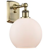 Innovations Lighting 516-1W-AB-G121-LED Athens LED 8 inch Antique Brass Sconce Wall Light, Ballston