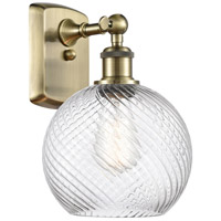 Innovations Lighting 516-1W-AB-G1214-8-LED Twisted Swirl LED 8 inch Antique Brass Sconce Wall Light, Ballston