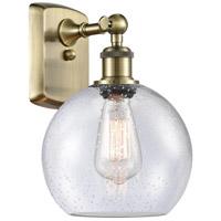 Innovations Lighting 516-1W-AB-G124 Athens 1 Light 8 inch Antique Brass Sconce Wall Light Ballston