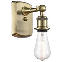 Innovations Lighting 516-1W-AB Bare Bulb 1 Light 5 inch Antique Brass Sconce Wall Light, Ballston