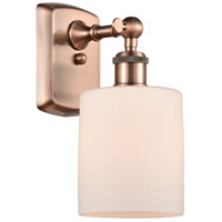 Innovations Lighting 516-1W-AC-G111 Cobbleskill 1 Light 5 inch Antique Copper Sconce Wall Light, Ballston
