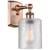 Innovations Lighting 516-1W-AC-G112 Cobbleskill 1 Light 5 inch Antique Copper Sconce Wall Light, Ballston