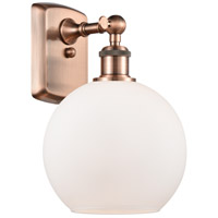 Innovations Lighting 516-1W-AC-G121 Athens 1 Light 8 inch Antique Copper Sconce Wall Light Ballston