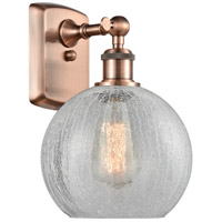 Innovations Lighting 516-1W-AC-G125 Athens 1 Light 8 inch Antique Copper Sconce Wall Light Ballston