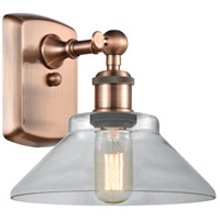 Innovations Lighting 516-1W-AC-G132-LED Orwell LED 9 inch Antique Copper Sconce Wall Light Ballston