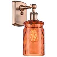 Innovations Lighting 516-1W-AC-G352-TUR Candor 1 Light 5 inch Antique Copper Sconce Wall Light, Ballston