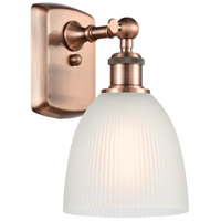 Innovations Lighting 516-1W-AC-G381 Castile 1 Light 6 inch Antique Copper Sconce Wall Light Ballston