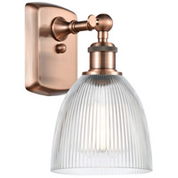 Innovations Lighting 516-1W-AC-G382 Castile 1 Light 6 inch Antique Copper Sconce Wall Light Ballston