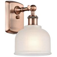 Innovations Lighting 516-1W-AC-G411-LED Dayton LED 6 inch Antique Copper Sconce Wall Light Ballston
