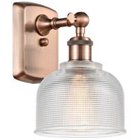 Innovations Lighting 516-1W-AC-G412-LED Dayton LED 6 inch Antique Copper Sconce Wall Light Ballston
