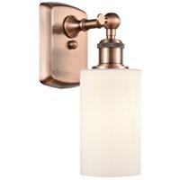 Innovations Lighting 516-1W-AC-G801 Clymer 1 Light 4 inch Antique Copper Sconce Wall Light, Ballston
