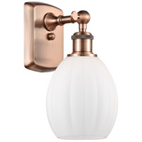 Innovations Lighting 516-1W-AC-G81-LED Eaton LED 6 inch Antique Copper Sconce Wall Light Ballston
