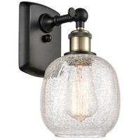 Innovations Lighting 516-1W-BAB Bare Bulb 1 Light 5 inch Black Antique Brass Sconce Wall Light Ballston