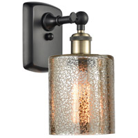 Innovations Lighting 516-1W-BAB-G116-LED Cobbleskill LED 5 inch Black Antique Brass Sconce Wall Light Ballston