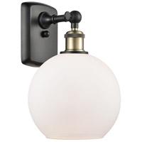 Innovations Lighting 516-1W-BAB-G121 Athens 1 Light 8 inch Black Antique Brass Sconce Wall Light Ballston