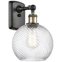 Innovations Lighting 516-1W-BAB-G1214-8-LED Twisted Swirl LED 8 inch Black Antique Brass Sconce Wall Light Ballston