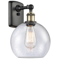 Innovations Lighting 516-1W-BAB-G124 Athens 1 Light 8 inch Black Antique Brass Sconce Wall Light Ballston
