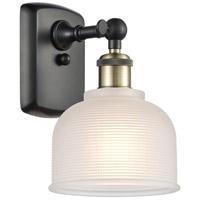 Innovations Lighting 516-1W-BAB-G411-LED Dayton LED 6 inch Black Antique Brass Sconce Wall Light Ballston
