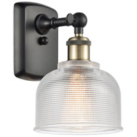 Innovations Lighting 516-1W-BAB-G412-LED Dayton LED 6 inch Black Antique Brass Sconce Wall Light Ballston