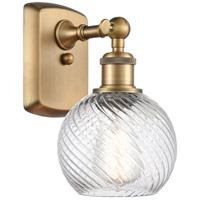 Innovations Lighting 516-1W-BB-G1214-6 Small Twisted Swirl 1 Light 6 inch Brushed Brass Sconce Wall Light Ballston