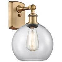 Innovations Lighting 516-1W-BB-G122 Athens 1 Light 8 inch Brushed Brass Sconce Wall Light Ballston