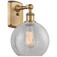 Innovations Lighting 516-1W-BB-G125-LED Athens LED 8 inch Brushed Brass Sconce Wall Light Ballston