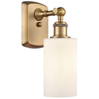 Innovations Lighting 516-1W-BB-G801 Clymer 1 Light 4 inch Brushed Brass Sconce Wall Light Ballston