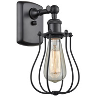 Innovations Lighting 516-1W-BK-513 Barrington 1 Light 6 inch Matte Black Sconce Wall Light Austere