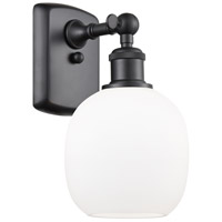 Innovations Lighting 516-1W-BK-G101 Belfast 1 Light 6 inch Matte Black Sconce Wall Light Ballston
