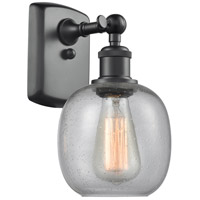Innovations Lighting 516-1W-BK-G104-LED Belfast LED 6 inch Matte Black Sconce Wall Light Ballston
