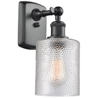 Innovations Lighting 516-1W-BK-G112 Cobbleskill 1 Light 5 inch Matte Black Wall Sconce Wall Light
