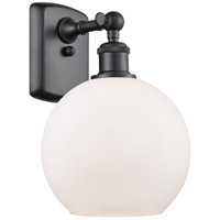 Innovations Lighting 516-1W-BK-G121 Athens 1 Light 8 inch Matte Black Sconce Wall Light Ballston