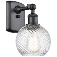 Innovations Lighting 516-1W-BK-G1214-6 Small Twisted Swirl 1 Light 6 inch Matte Black Sconce Wall Light Ballston