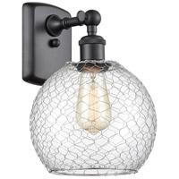 Innovations Lighting 516-1W-BK-G122-8CSN Farmhouse Chicken Wire 1 Light 8 inch Matte Black Sconce Wall Light Ballston