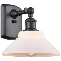 Innovations Lighting 516-1W-BK-G131 Orwell 1 Light 9 inch Matte Black Sconce Wall Light Ballston