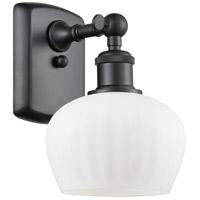Innovations Lighting 516-1W-BK-G91-LED Fenton LED 7 inch Matte Black Sconce Wall Light Ballston
